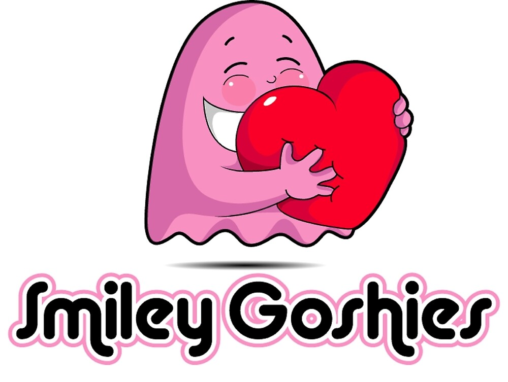 goshie hugging a heart by smileygoshies