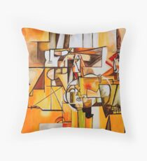 Cafe - Tribute to Pablo Picasso Throw Pillow
