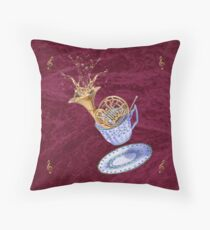 Dunking a French Horn Throw Pillow