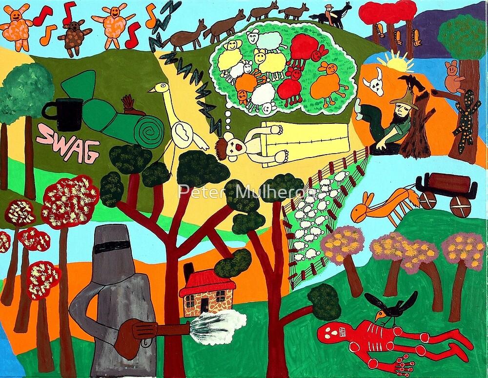 Bushwackers songs mural2 by Peter  Mulheron