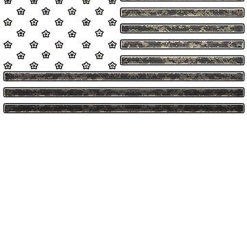 American Flag Men's T-shirt by LeeTshirt