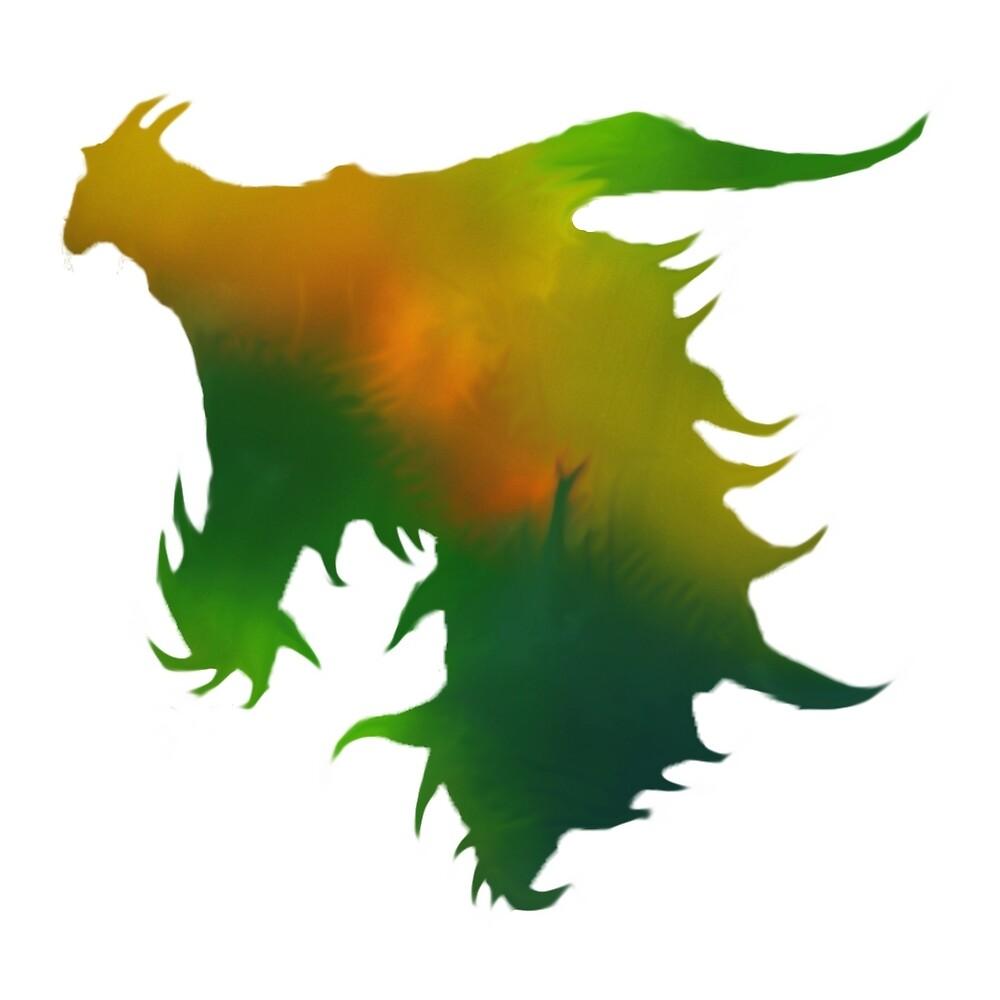 Skyrim - Dragon Head - Aurora by CyNickal
