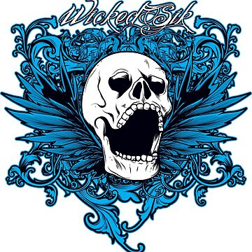 Wicked Sik Skull logo by WickedSik