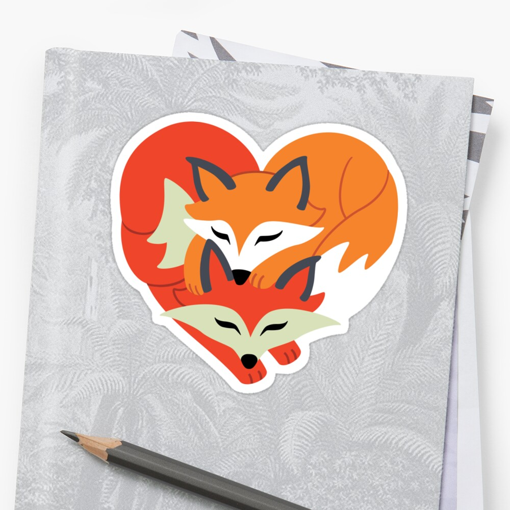 Fox Love: Heart Silhouette by Taylor Smith