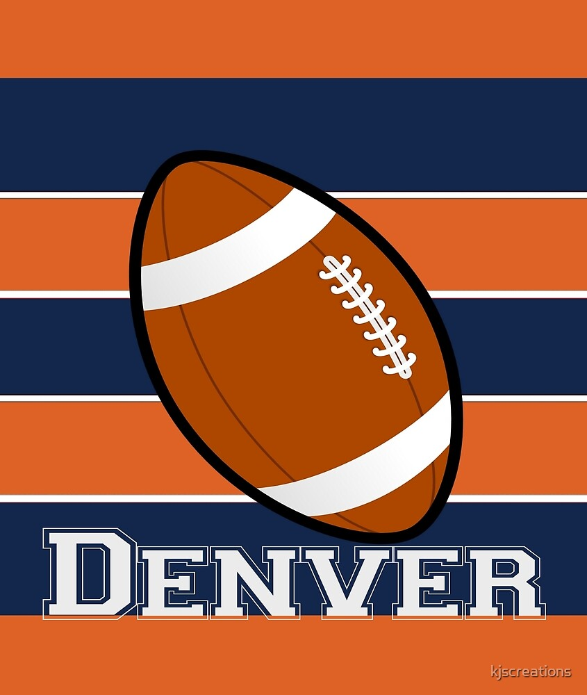 Denver National Football Team Colors by kjscreations