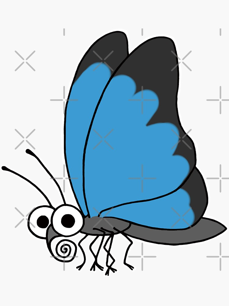 Butterfly On Blue by AdrienneBody