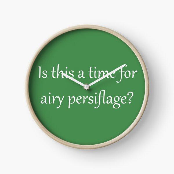 Airy Persiflage - Gilbert & Sullivan - light text Clock