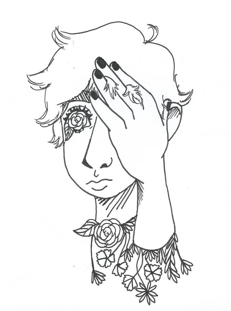 blind beauty by Qrowflowers
