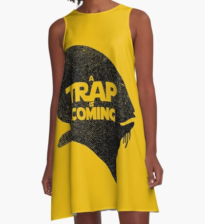 A Trap is Coming - black A-Line Dress