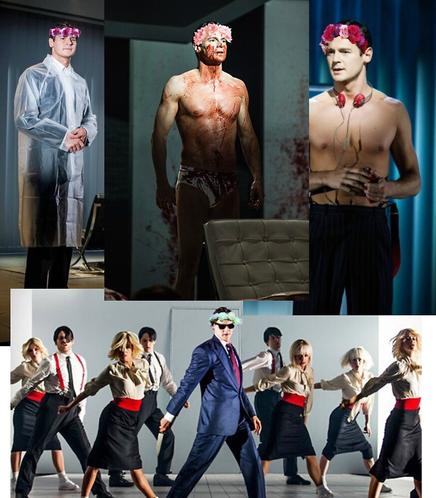 American Psycho Musical Flower Crowns by sydkurl