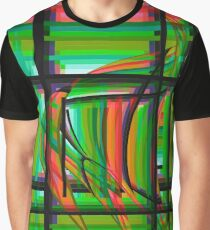 Swimming the Grid in Orange and Green  Graphic T-Shirt