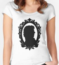 Sherlock Holmes Silhouette  Women's Fitted Scoop T-Shirt
