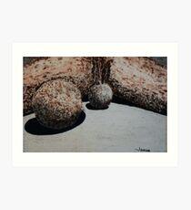 Boulder oil painting 1 Art Print