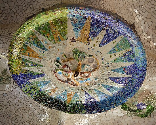 Parc Guell Ceiling Medallion (Barcelona, Spain) by Michael Lempert