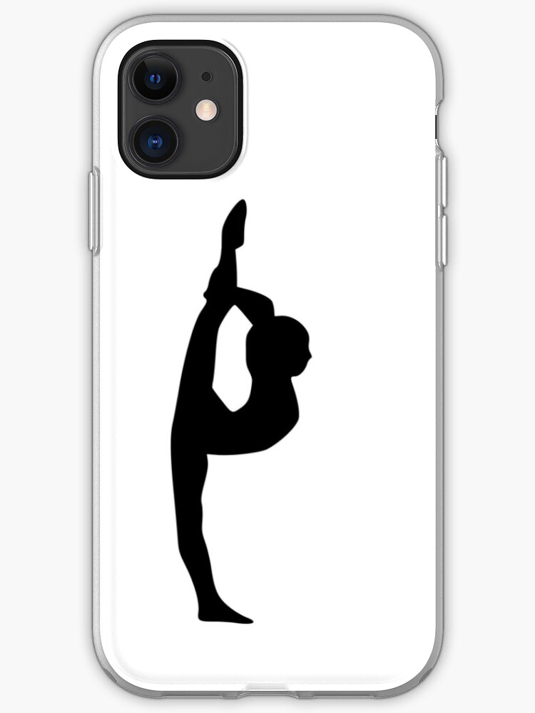 Gymnast Or Dancer Silhouette Iphone Case Cover By Snappybrick Redbubble