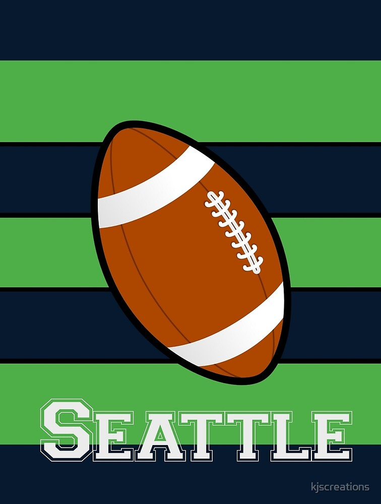 Seattle National Football Colors Sports by kjscreations