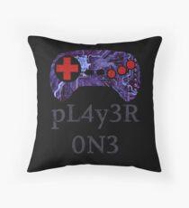 I Am pL4y3R 0N3 Throw Pillow