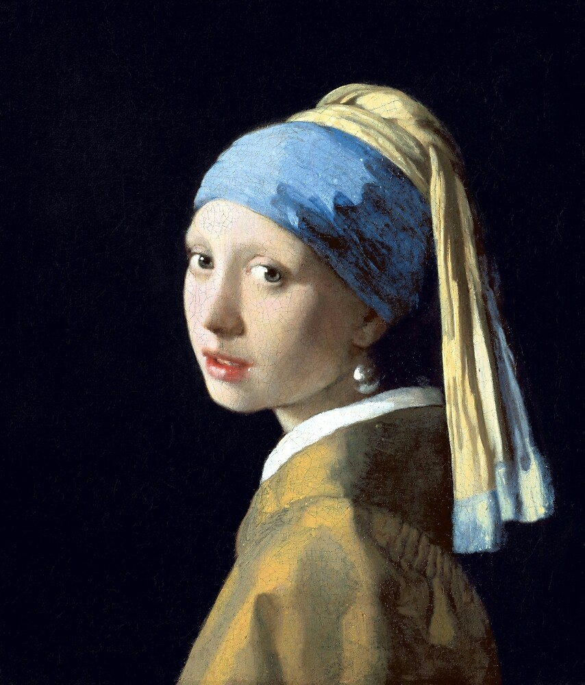 Johannes Vermeer Girl with a Pearl Earring by pdgraphics