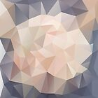 « Low Polygon Digital Art : Blush/Pink/Gray » par kimBLiSS