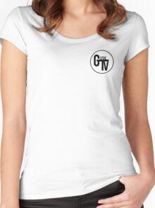 Black GlydeTV Logo Women's Fitted Scoop T-Shirt