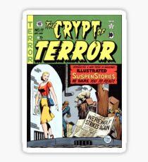 TERROR HORROR COMICS COVER RETRO WEREWOLF Sticker