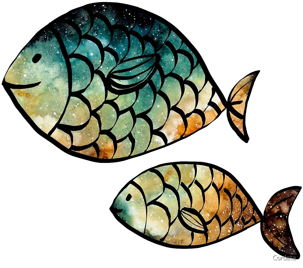 Watercolor Fishes by Cordata
