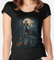 Jack Skellington Women's Fitted Scoop T-Shirt