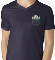 Rowlet in a pocket Men's V-Neck T-Shirt