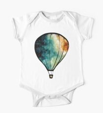 Watercolor Stars, Galaxy and Air Balloons One Piece - Short Sleeve