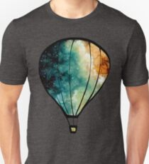 Watercolor Stars, Galaxy and Air Balloons Unisex T-Shirt