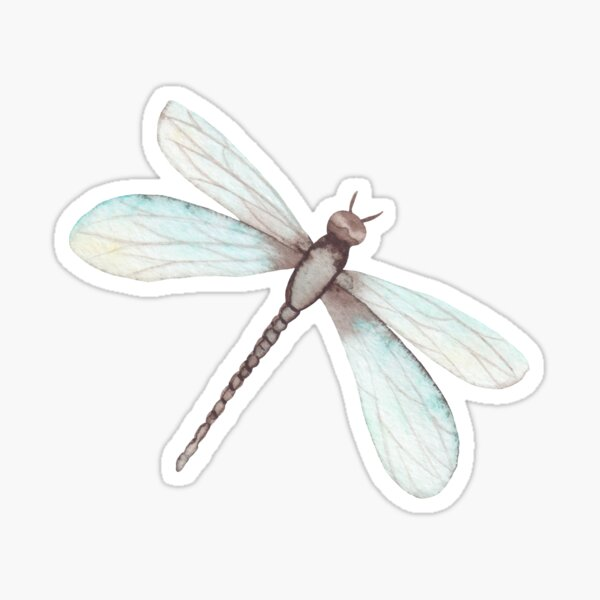 Watercolor Dragonfly Sticker