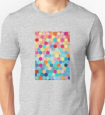 Patterned Honeycomb Patchwork in Jewel Colors Unisex T-Shirt