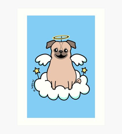 Pug Angel Art Print