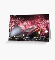 Sydney Opera House up in Lights Greeting Card