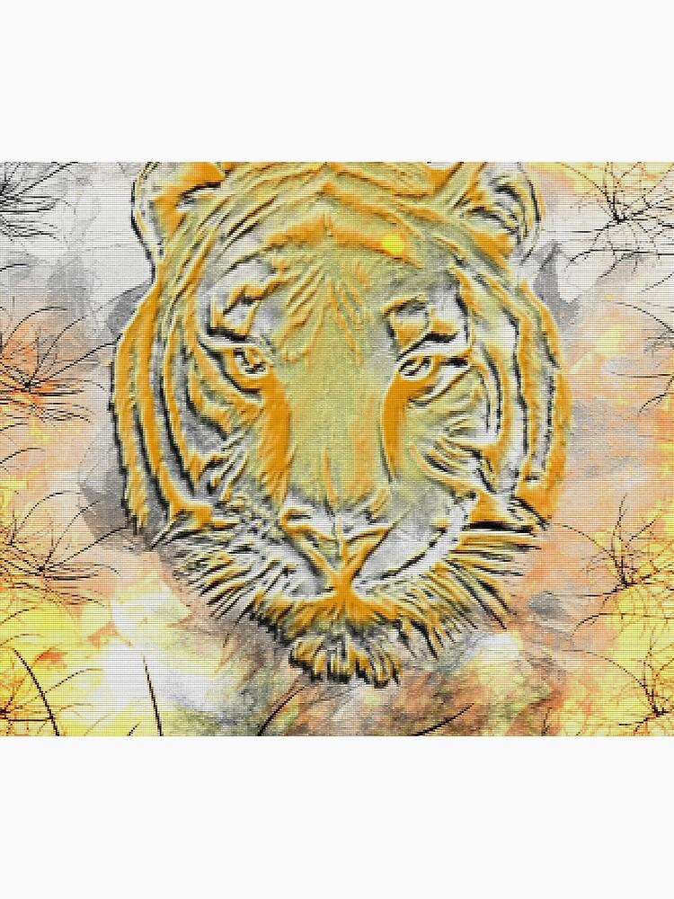 Burning tiger by coldfoxfusion