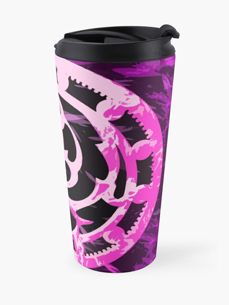 Alternate view of Crested pink Travel Mug