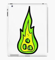 cartoon burning flame iPad Case/Skin