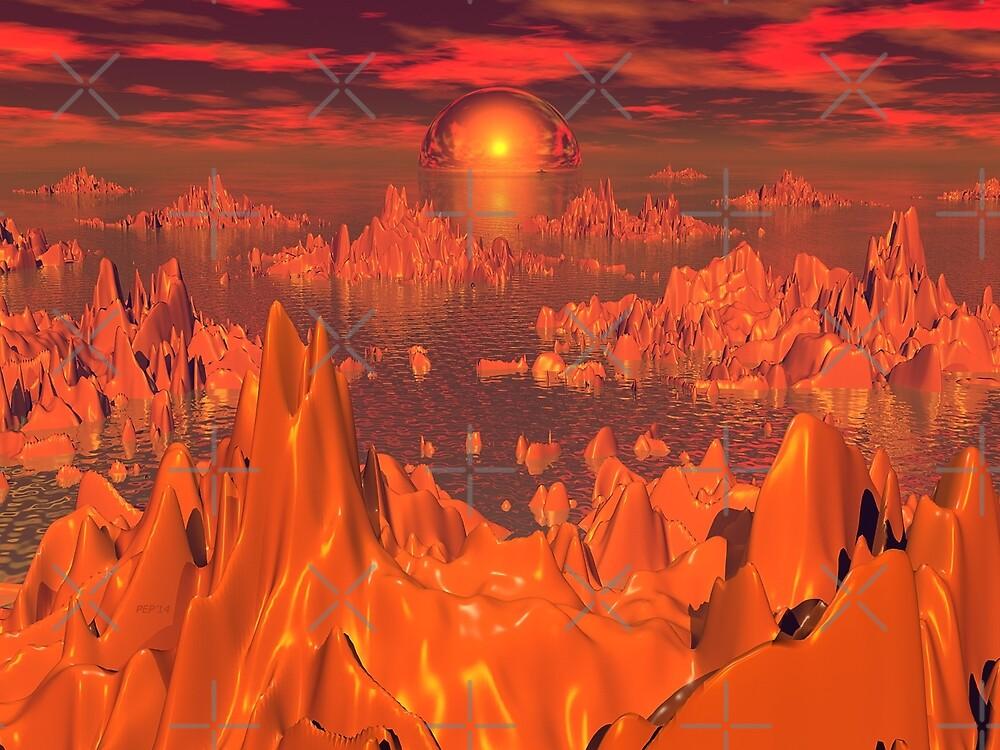 Space Islands of Orange by Phil Perkins
