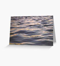 Ocean River Waves Sunset Greeting Card