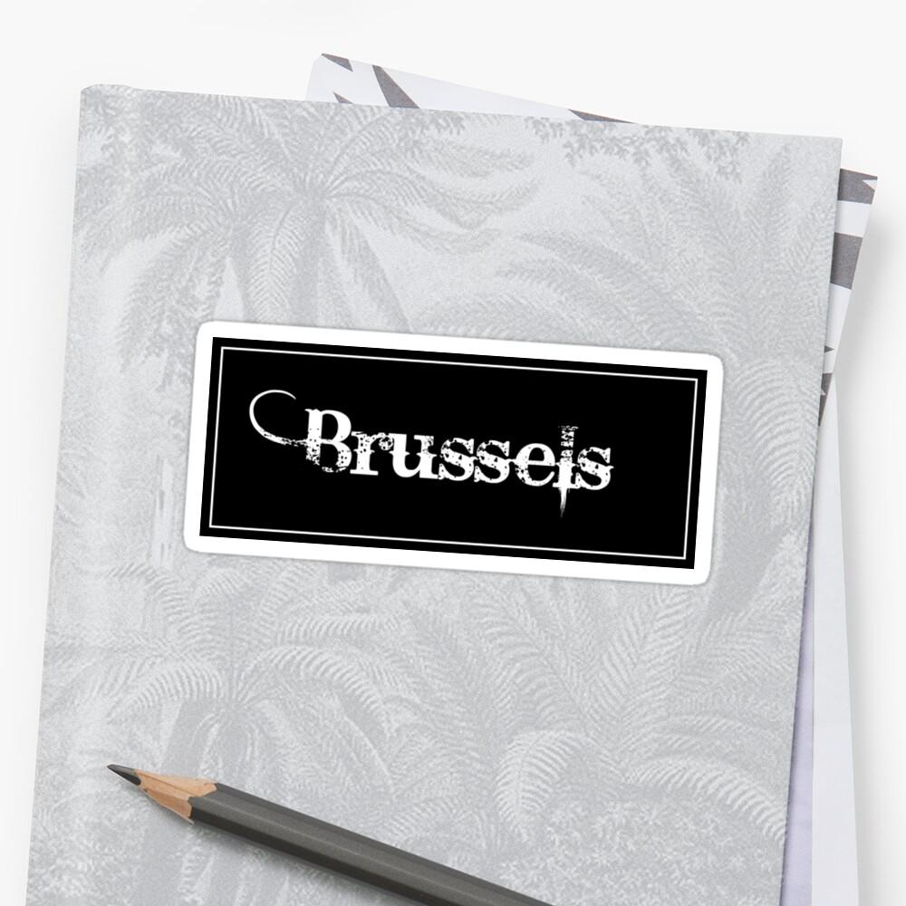Brussels - Sticker by flylikeakiwinz