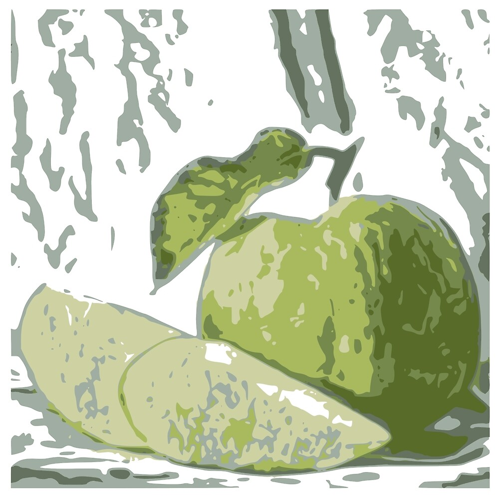 guava picture in painting theme by taniplusshop