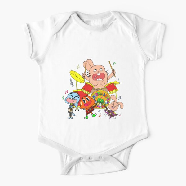 The Band (The Amazing World Of Gumball) Short Sleeve Baby One-Piece