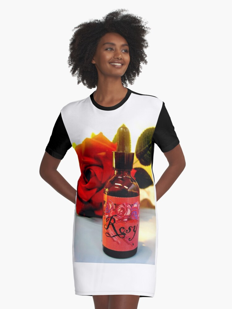 Rosy in Amber Collection VI Graphic T-Shirt Dress Front