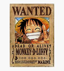 Luffy Wanted Shirt Photographic Print