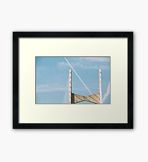 Bridge Under Blue Skies In Florida Framed Print