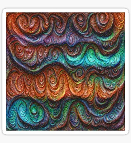 Frozen forest liquid lines and waves #DeepDream Sticker