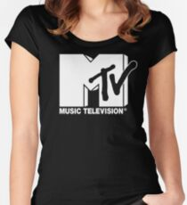 MTV Logo 3 Women's Fitted Scoop T-Shirt