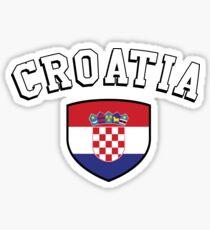 Kroatien Unterstützer Sticker