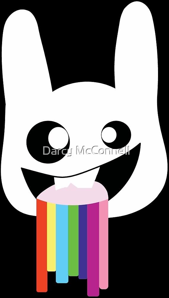 Rainbow vomit rabit by 1ns4n1ty