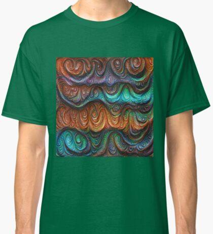 Frozen forest liquid lines and waves #DeepDream Classic T-Shirt
